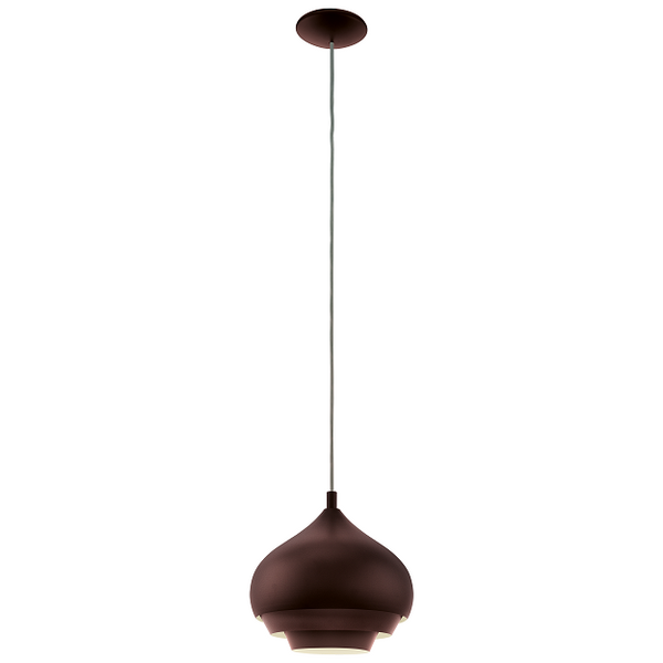 EO 96884 Dark Brown Overlayered Dome Pendant
