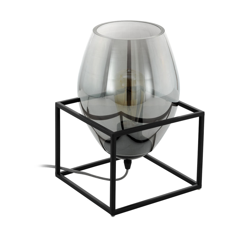 Olival 1 Smoke Glass Table Lamp