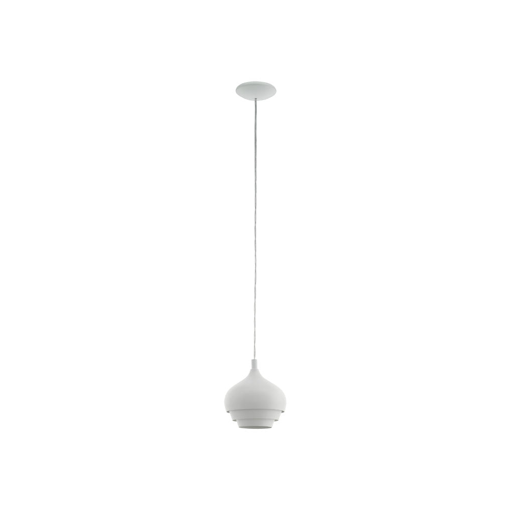 Camborne 190 White Layered Dome Pendant