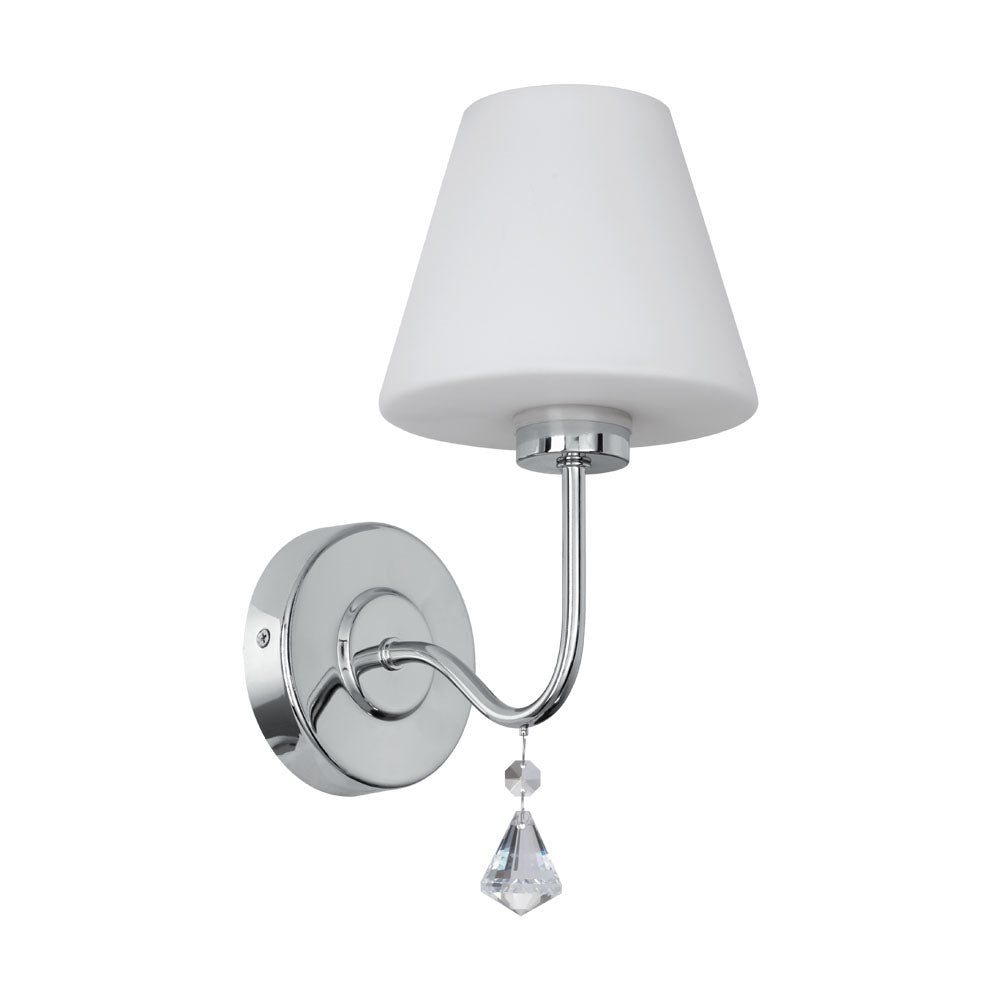 Loretto  Chrome Crystal Indoor Wall Light