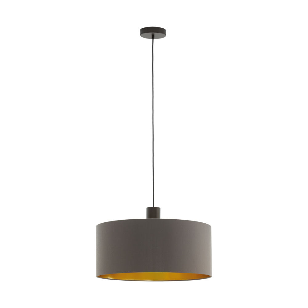 Concessa 1 Cappuccino Gold 530 Drum Shade Pendant