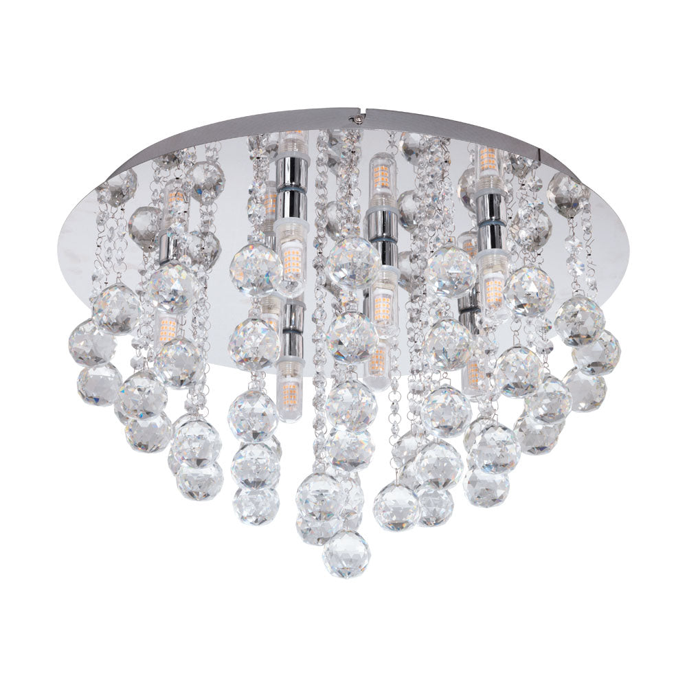 Almonte  500 Chrome Crystal Close to Ceiling