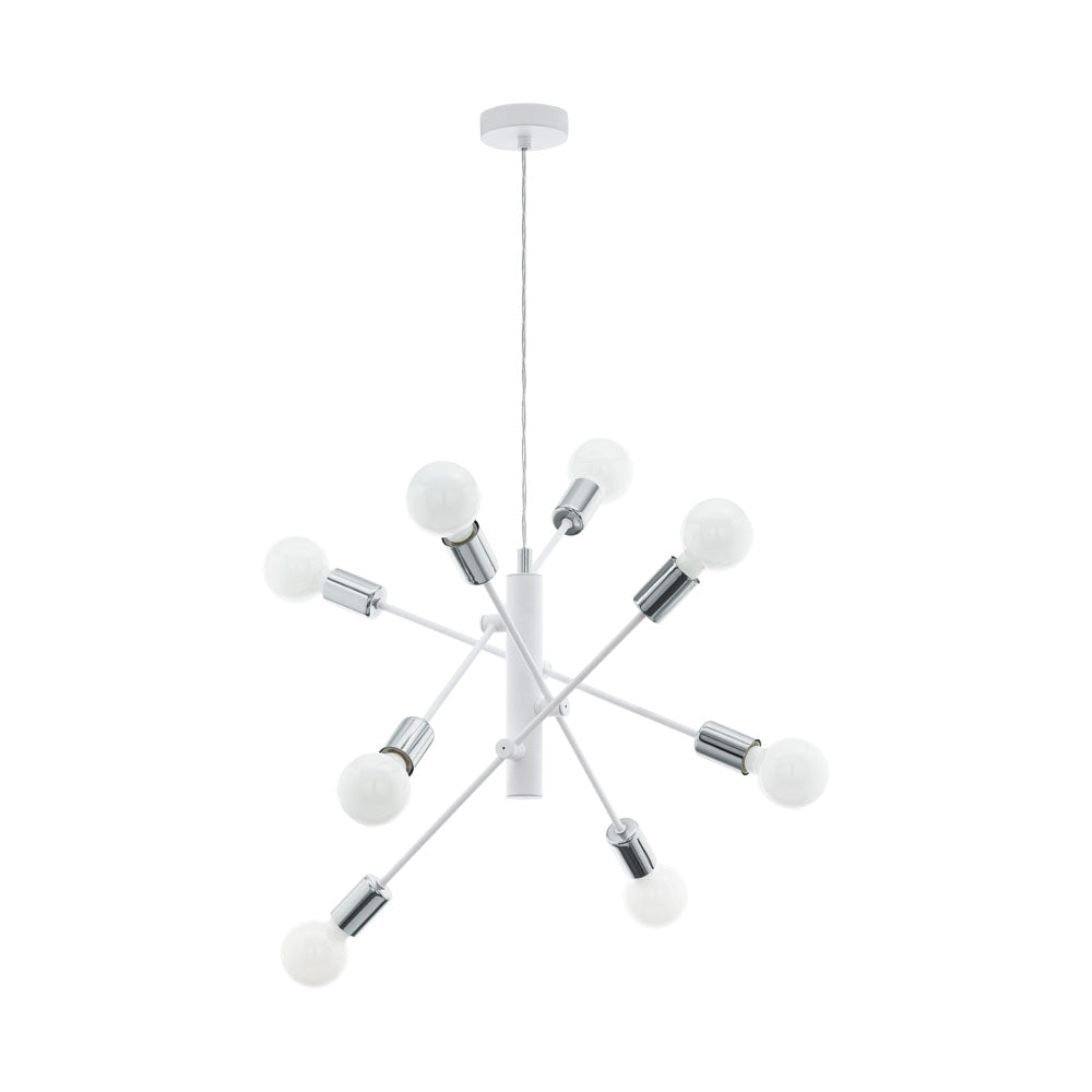Gradoli 8 Chrome and White Pendant