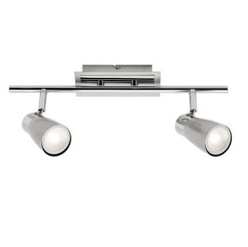 Alecia Brushed Chrome 2 Light Bar 9W LED Spotlight