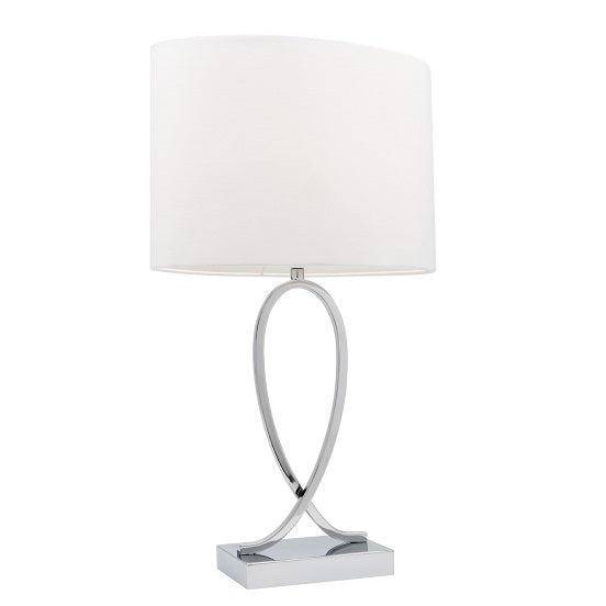 Campbell Small White Touch Lamp