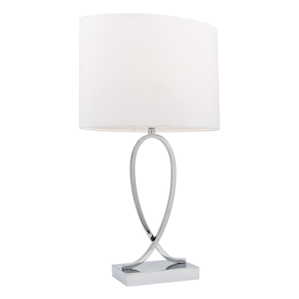 Campbell Large White On/Off Touch Table Lamp