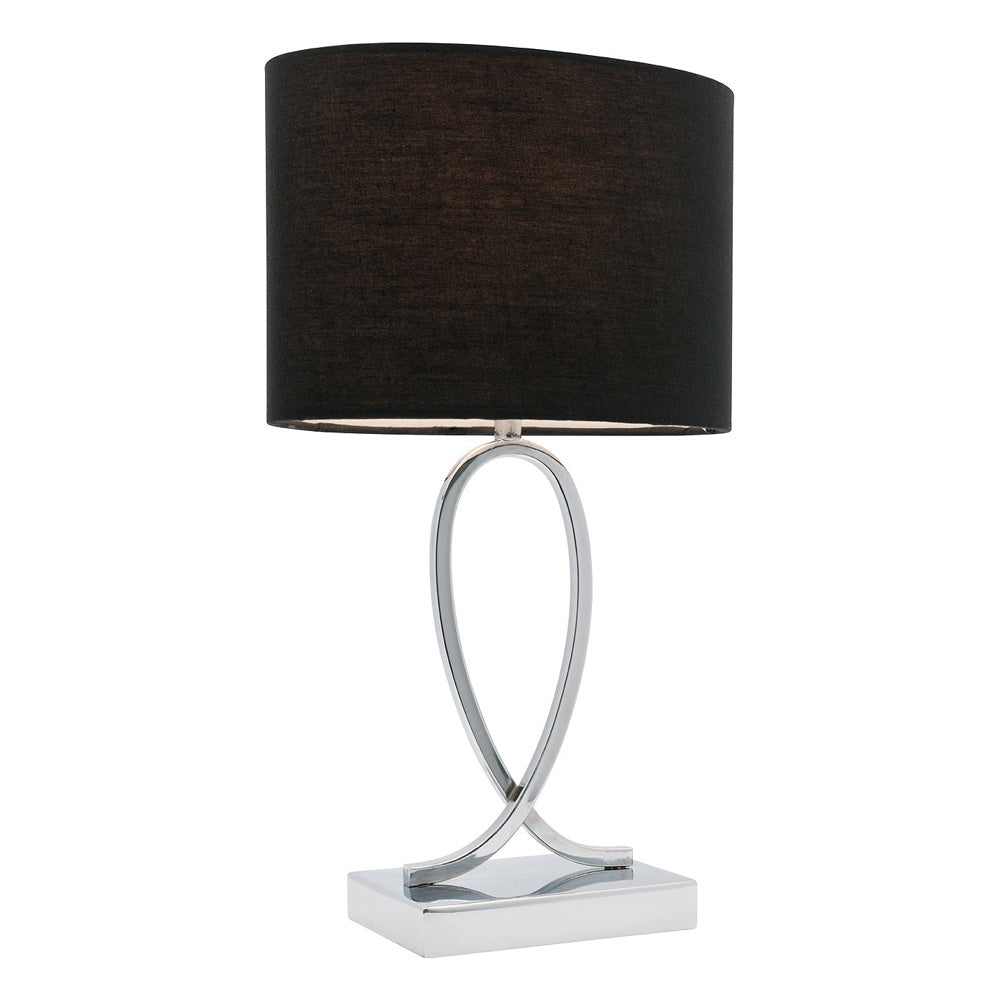 Campbell Large Black On/Off Touch Table Lamp