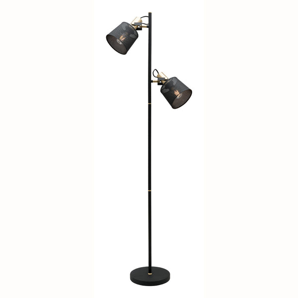 Arizona 2 Light Cylinder Mesh Metal Shade Floor Lamp
