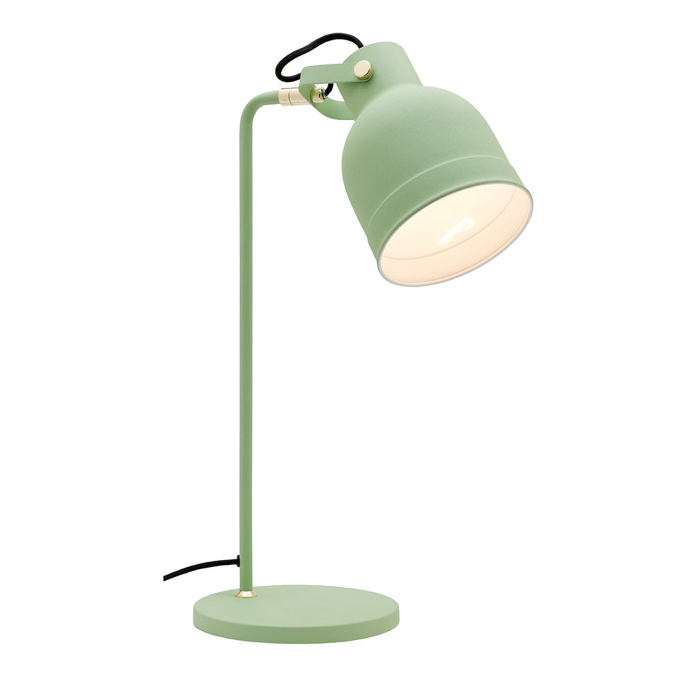Elliot Mint Green with Brass Trims Table Desk Lamp