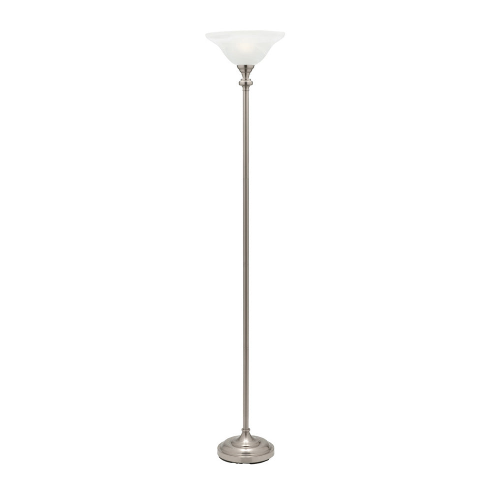 Logan Brushed Chrome Standing Uplight Floor Lamp