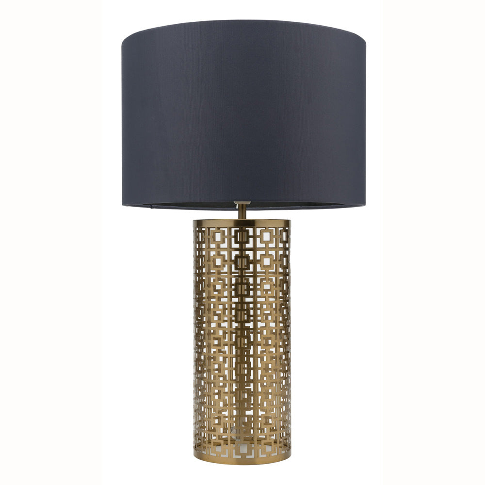 Berlin Brushed Brass and Dark Grey Table Lamp