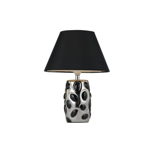 Alexa Black and Chrome Spots Table Lamp