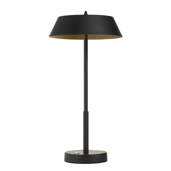 Allure Black and Gold Table Touch Lamp