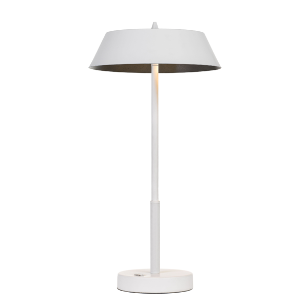 Allure White and Silver Table Touch Lamp