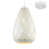 Devin 15cm White Modern Scale Laser Cut Pendant by Amond