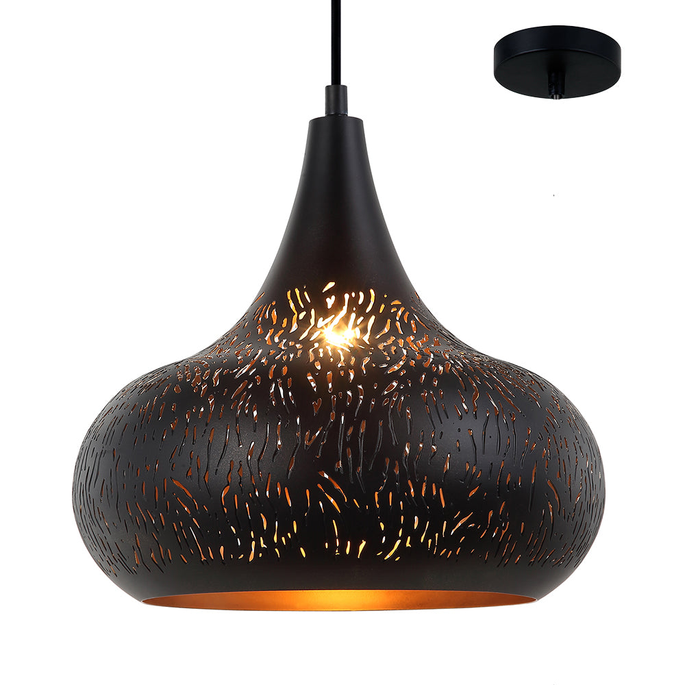 Emery 300mm Laser-cut Designer Teardrop Pendant by Amond