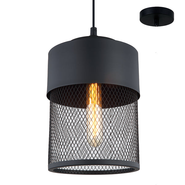 Karsen 180 Small Modern Cylindrical Cage Pendant by Amond