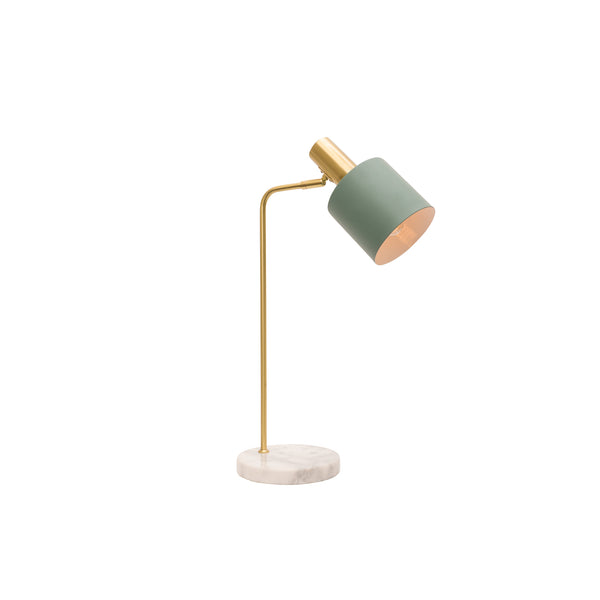 Addison Jade and Brushed Brass Modern Industrial Table Lamp