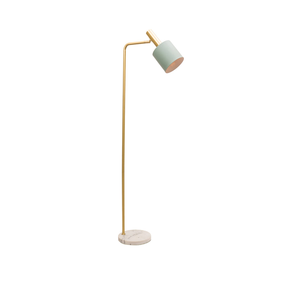 Addison Jade and Brushed Brass Modern Industrial Floor Lamp
