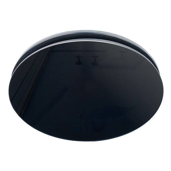 Airbus 250 Exhaust Fan with Round Black Elegant Range Glass Fascia