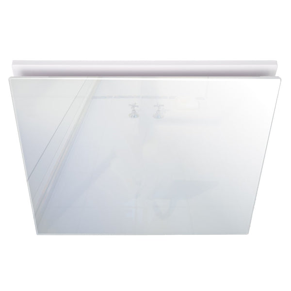 Airbus 200 Exhaust Fan with Square White Elegant Range Glass Fascia