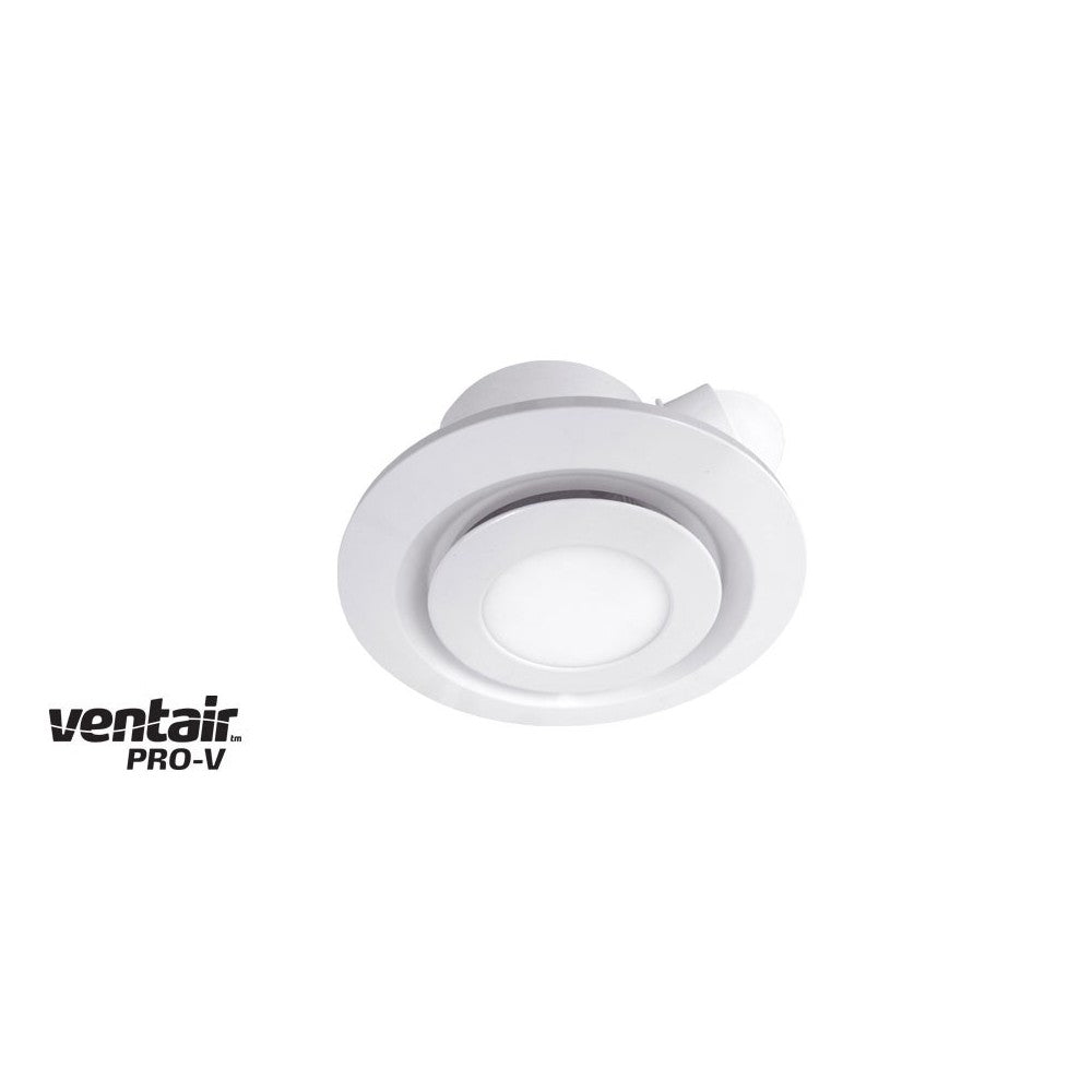 Airbus 200 Exhaust Fan with Round White LED Light Fascia