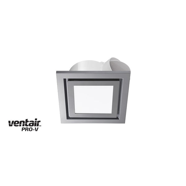 Airbus LED Square 200 Silver Exhaust Fan with Light