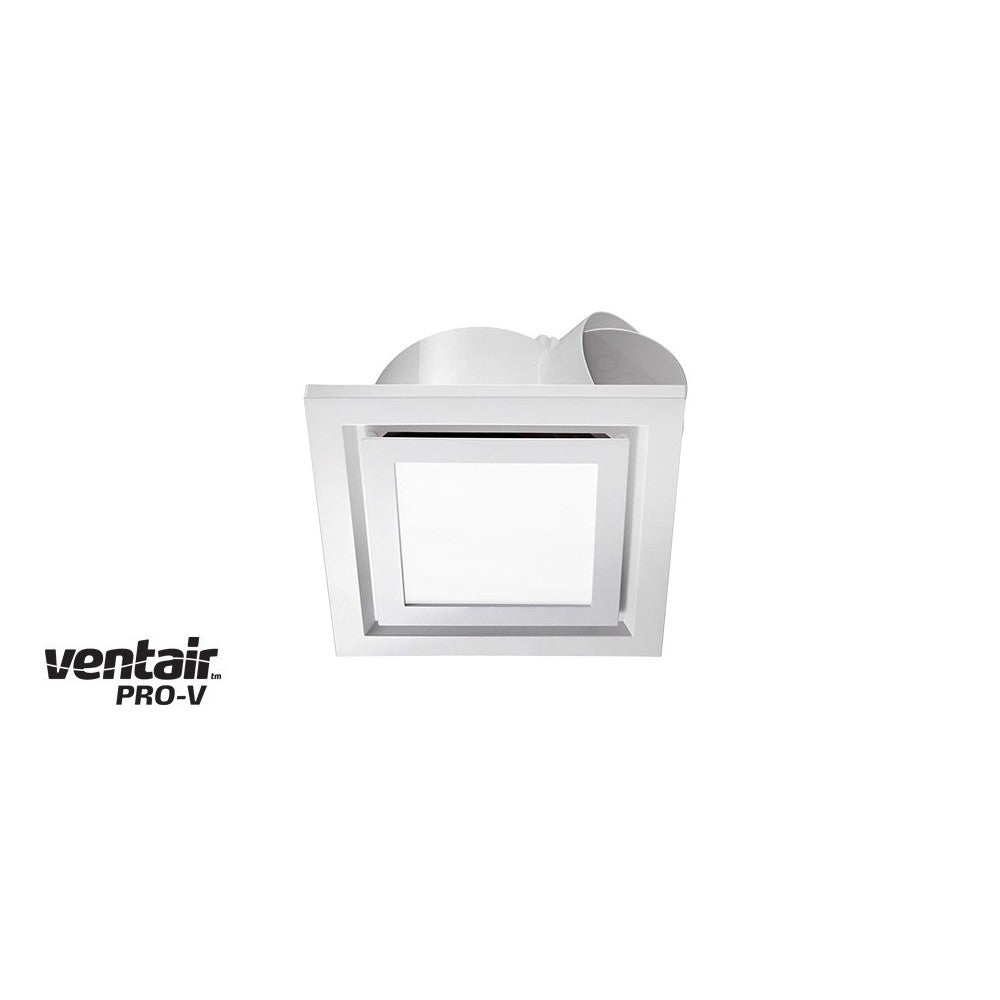 Airbus LED Square 200 White Exhaust Fan with Light