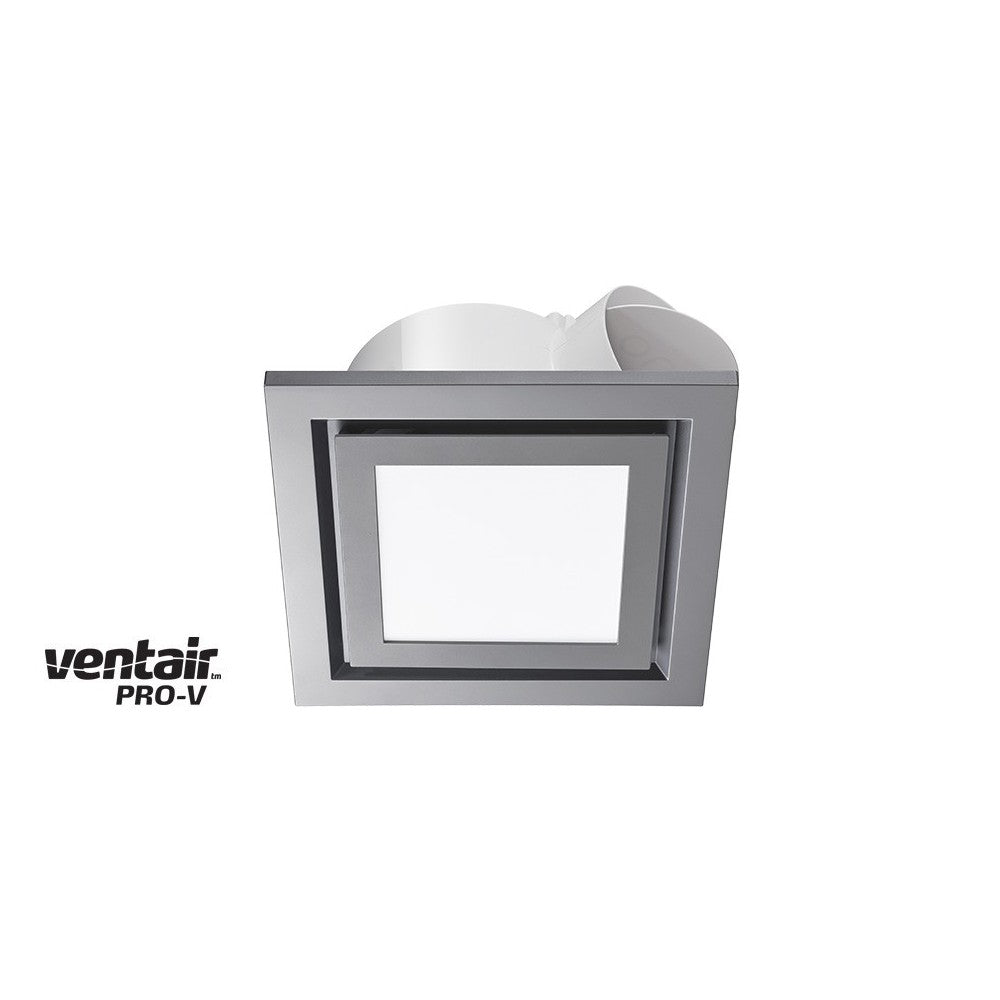 Airbus LED Square 250 Silver Exhaust Fan with Light