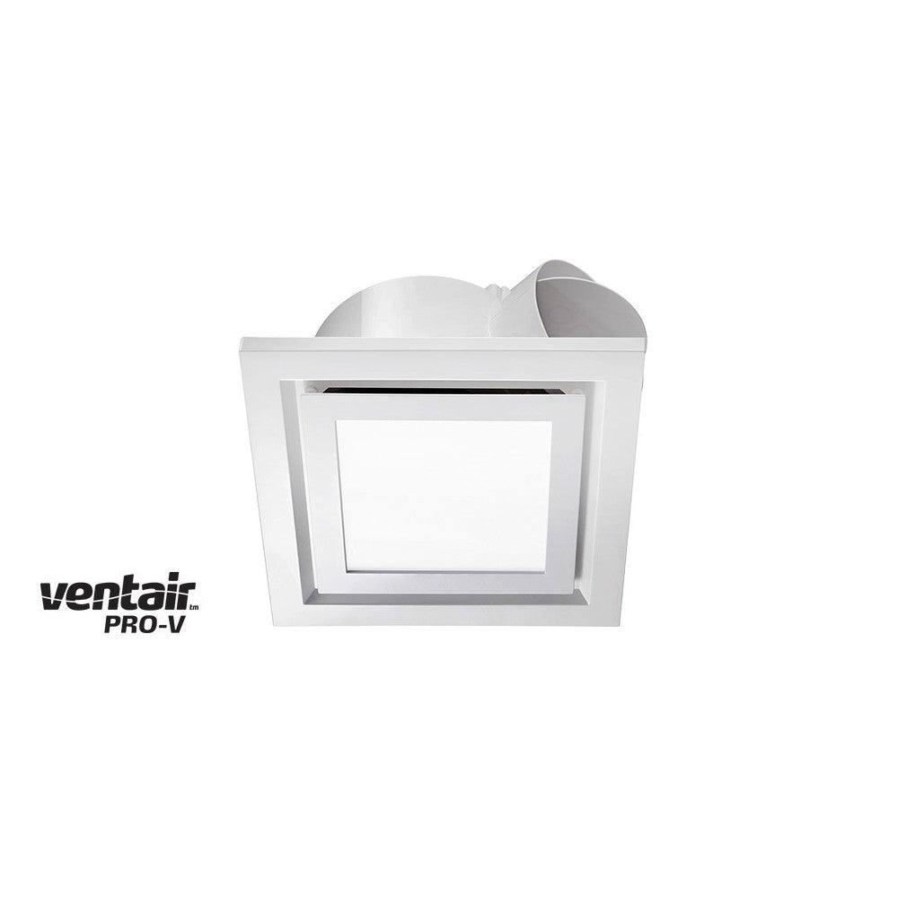 Airbus LED Square 250 White Exhaust Fan with Light