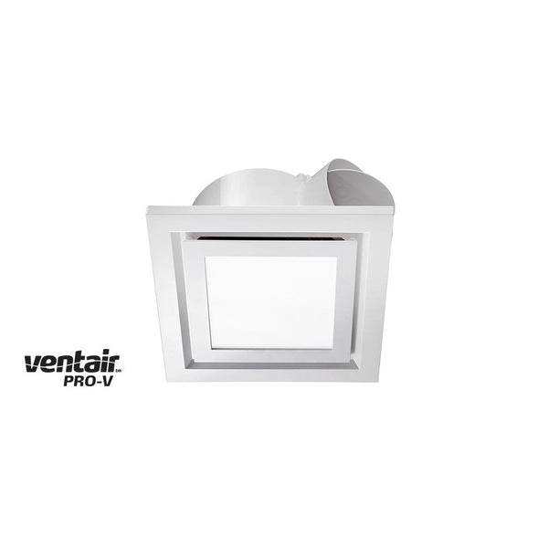 Airbus 250 Exhaust Fan with Square White LED Light Fascia