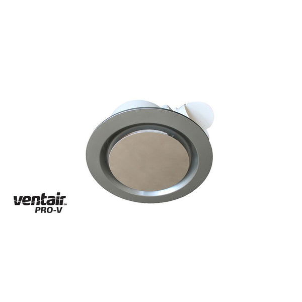 Airbus 200 Exhaust Fan with Round Silver Fascia