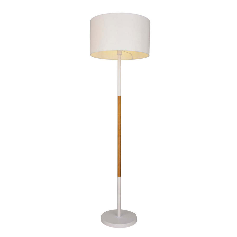 Amara White and Timber Floor Lamp by Amond