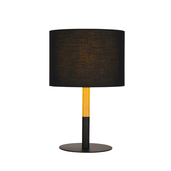 Amara Black and Timber Table Lamp by Amond