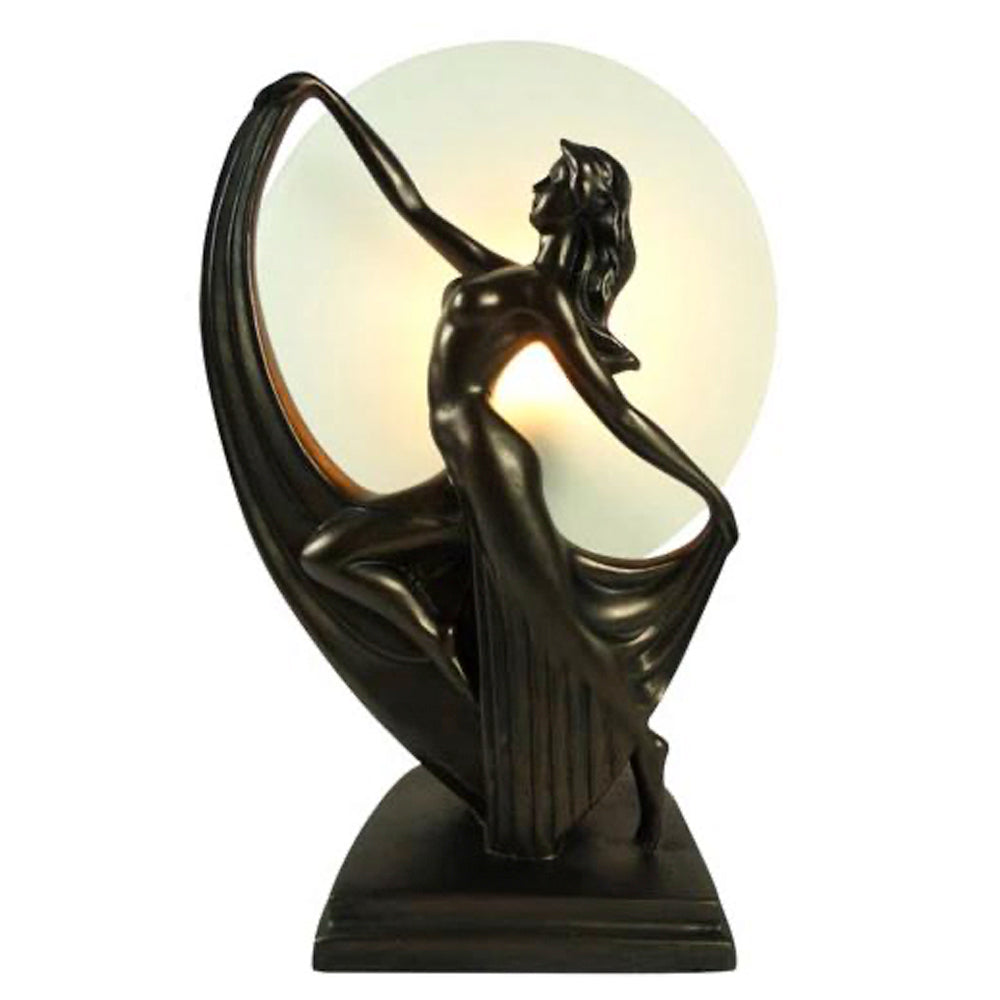 Art Deco Elegant Dancer Lady Lamp