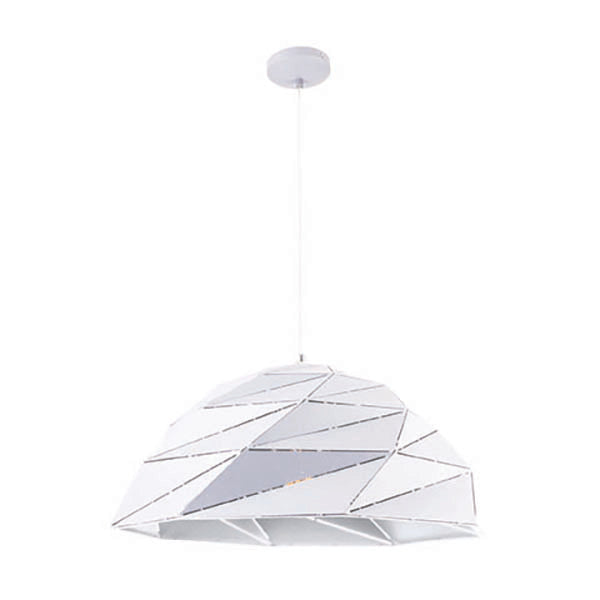 Astra Geometric Lazercut Large Matt White Pendant