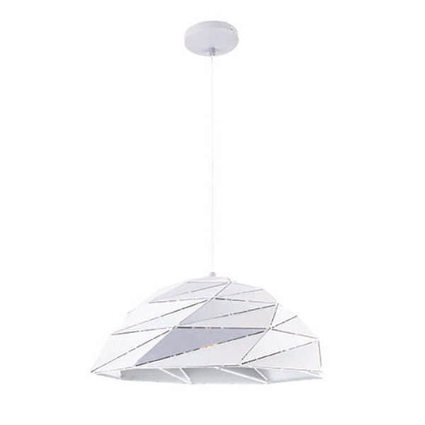 Astra Geometric Lazercut Small Matt White Pendant