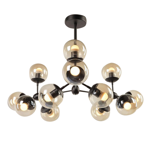 Aurora 12 Light Branching Sphere Cluster Pendant by Amond