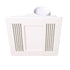 Aceline White Bathroom Exhaust Fan with Tri-Colour Light
