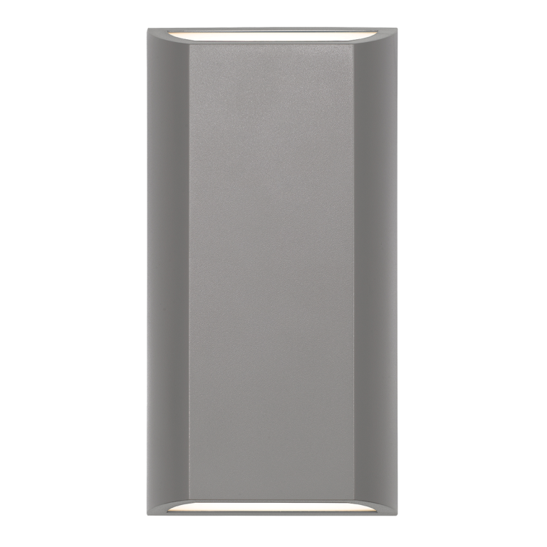 Bloc Ex8 Silver Up/Down Rectangular Wedge LED Exterior Wall Light