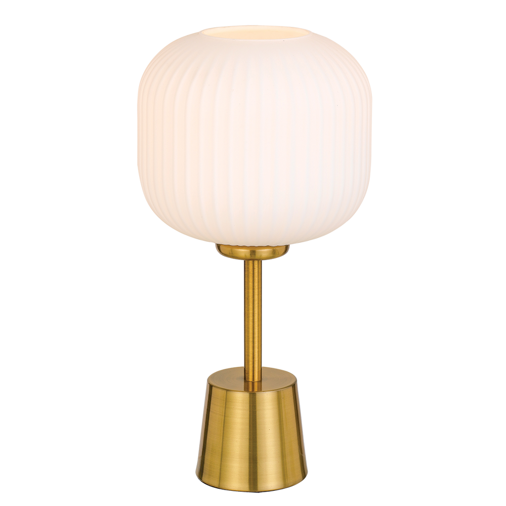 Bobo Gold and Opal Glass Table Lamp