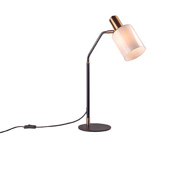 Balmoral Matt Black with Aged Brass Modern Table Lamp