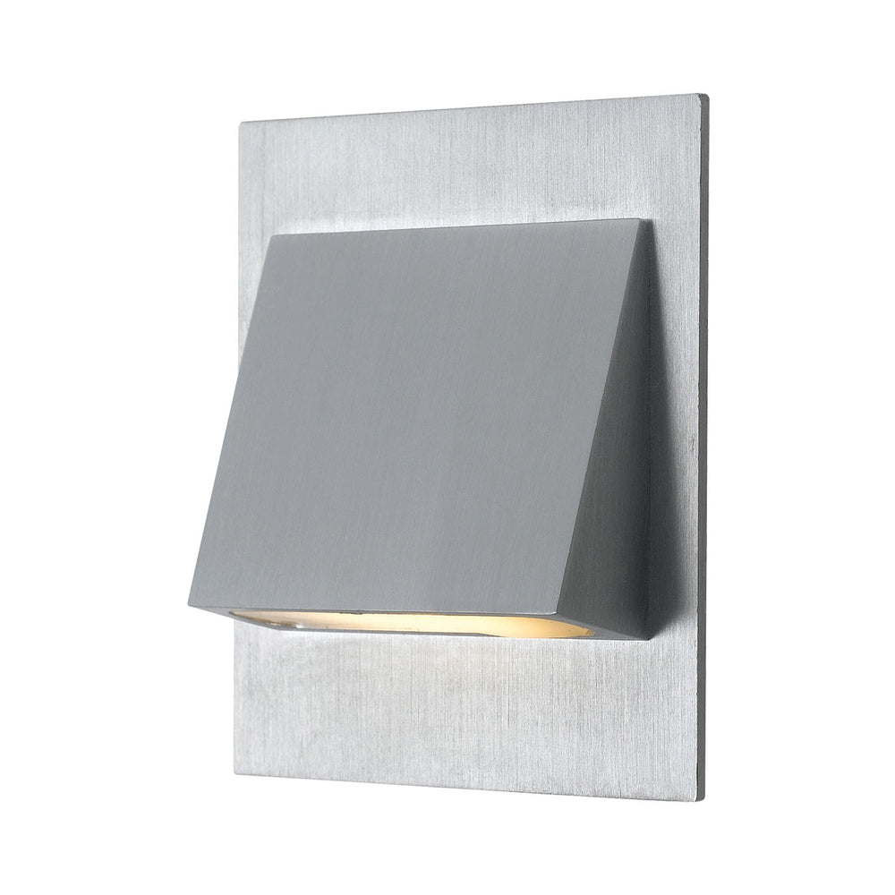 Brea Silver-830 Wedge Offset Recessed LED Stair Fixture