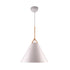 Byron Matt White with Timber Look Top Small Pendant