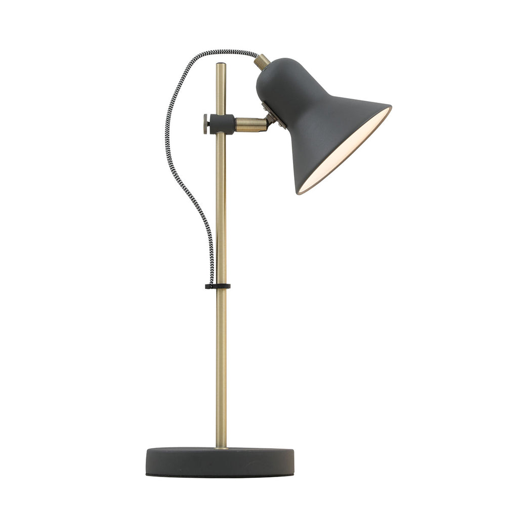 Corelli Black and Antique Brass Adjustable Table Lamp