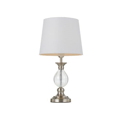 Crest Nickel Vintage Glass Base Table Lamp