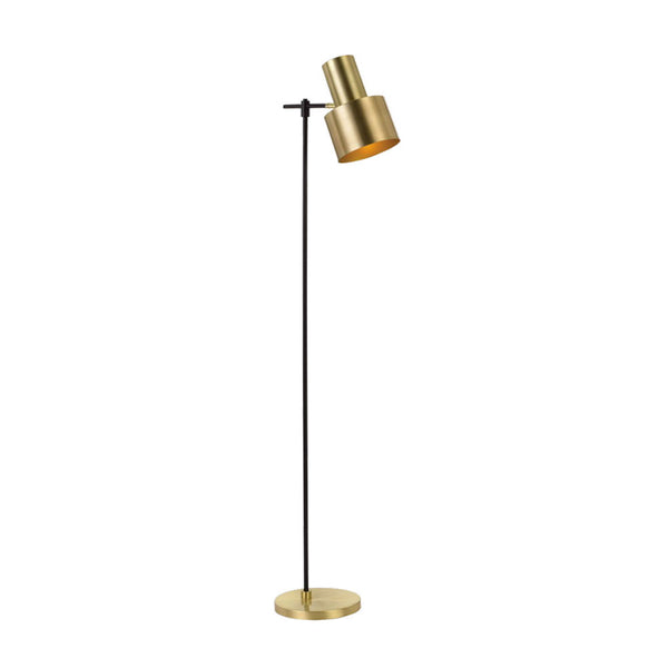 Croset Black and Brass Matt Floor Lamp