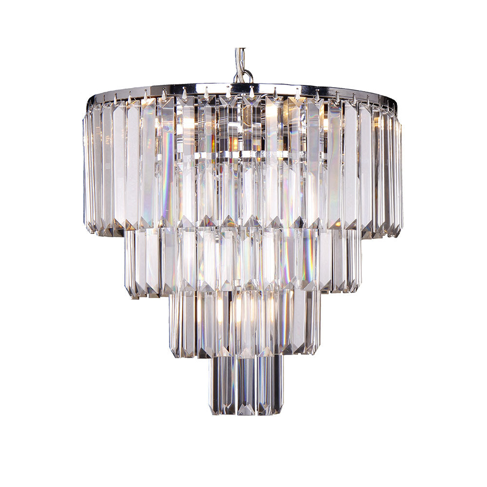 Celestial 4 Tier 5 Light Crystal Prism Chandelier Pendant