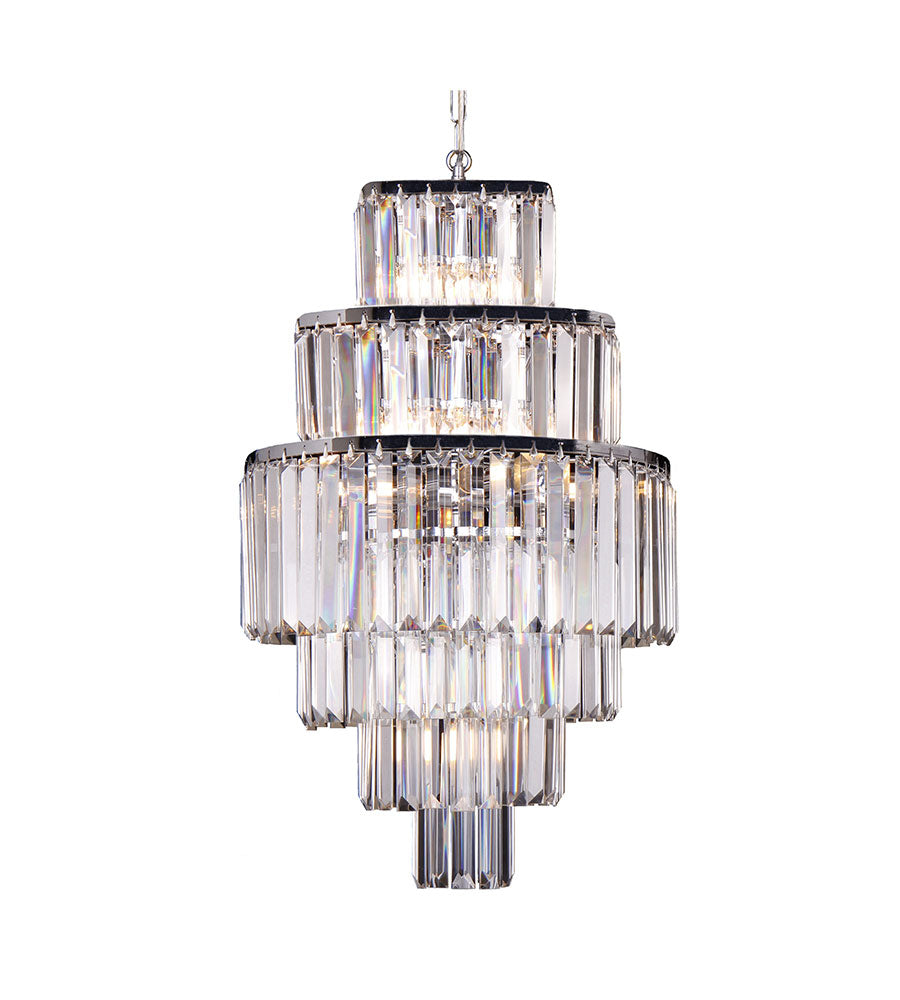 Celestial 6 Tier 9 Light Crystal Prism Chandelier Pendant