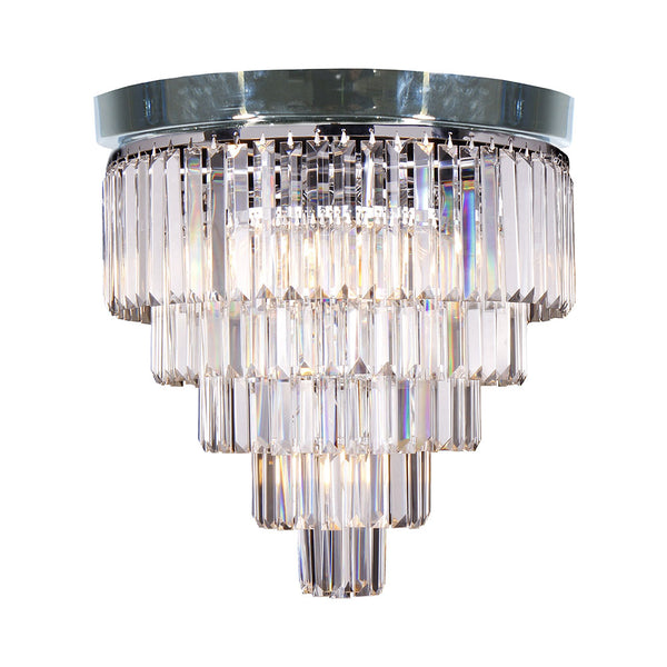 Celestial 5 Tier Flush Crystal Prism Chandelier